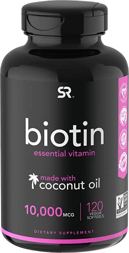 Biotin (10,000mcg) with Organic Coconut Oil | May Help Support Healthy...