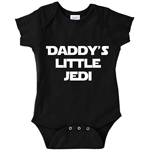 Decal Serpent Daddy's Little Jedi Funny Baby Bodysuit Infant (Black, 6...