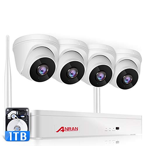 ANRAN Wireless Security Camera System 1080P with Audio,8 Channel...