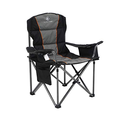 ALPHA CAMP Oversized Camping Folding Chair Heavy Duty Support 450 LBS...