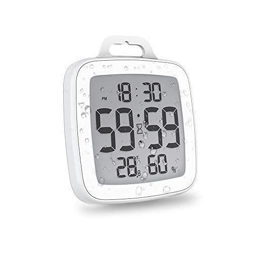 BALDR Digital Shower Clock with Timer   Waterproof Design, Perfect for The...