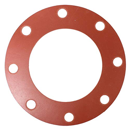 U-Turn - 6 inch Red Rubber Flange Gasket 1/8 Thick, Full Face, Class 150#