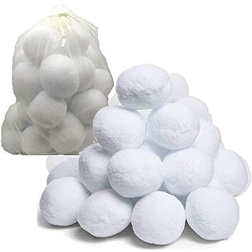 NimJoy 20 Pack Indoor Snowballs for Kids Adults, Perfect Snow Toy for Snow...