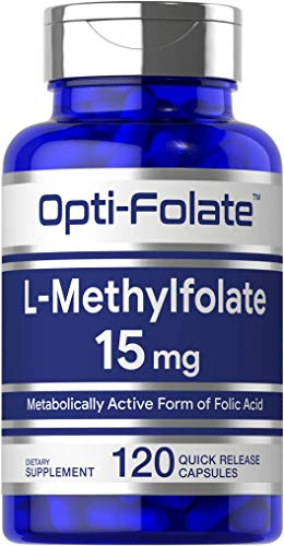 L Methylfolate 15mg | 120 Capsules | Value Size | Max Potency | Optimized...