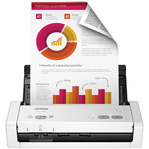 Brother Easy-to-Use Compact Desktop Scanner, ADS-1200, Fast Scan Speeds,...