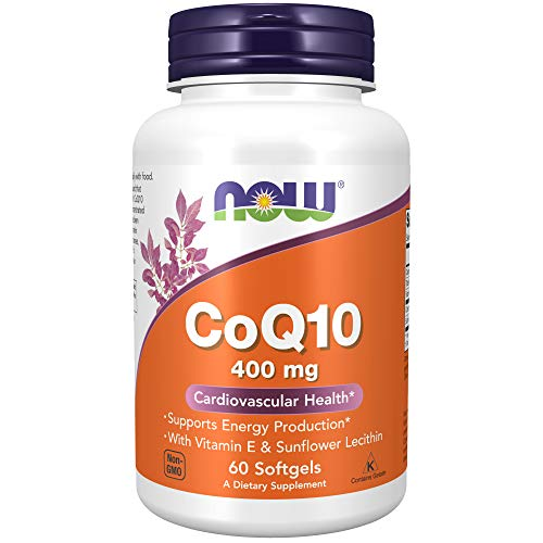 NOW Supplements, CoQ10 400 mg, Pharmaceutical Grade, All-Trans Form...