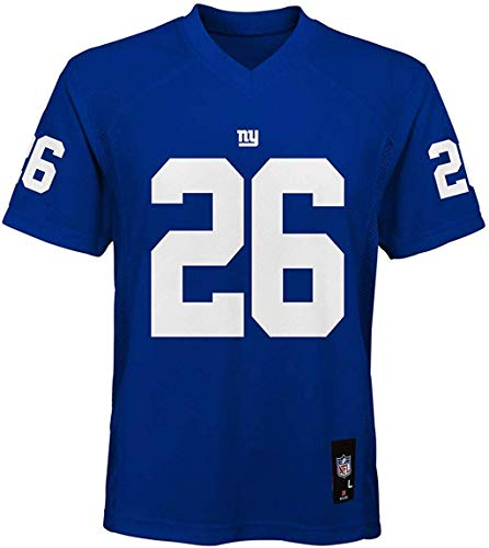 Outerstuff Saquon Barkley New York Giants #26 Blue Youth Mid Tier Home...