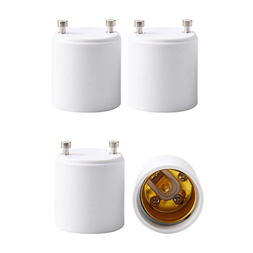 JACKYLED GU24 to E26 E27 Adapter 4-Pack Heat Resistant Up to 200℃ Fire...