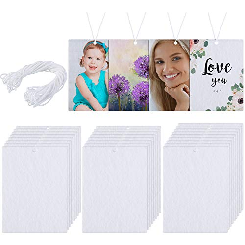 25 Pieces Sublimation Air Freshener Sheets Car Scented Hanging Sheets Felt...