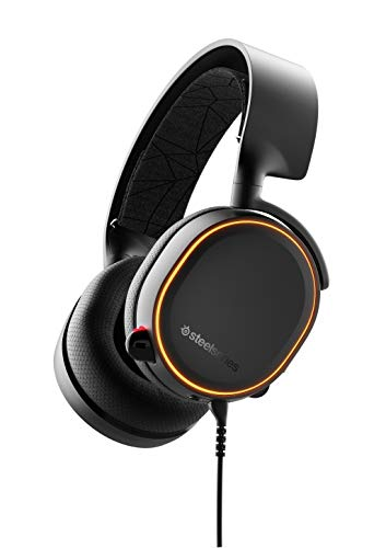 SteelSeries Arctis 5 - RGB Illuminated Gaming Headset with DTS Headphone: X...