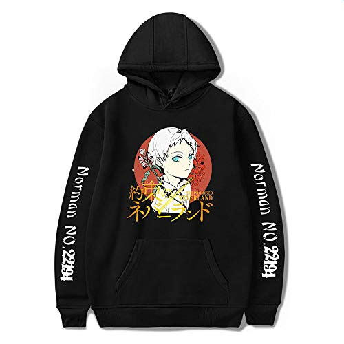 Adults The Promised Neverland Hoodie Ray Norman Cosplay Anime Pullover...