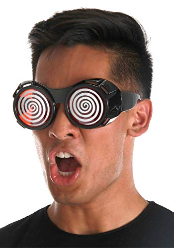 Red X-Ray Hypno Retro Costume Goggle Glasses for Men Women and Teens
