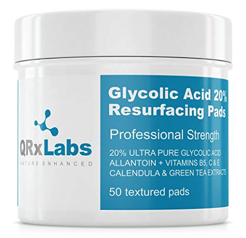 Glycolic Acid 20% Resurfacing Pads for Face & Body with Vitamins B5, C & E,...