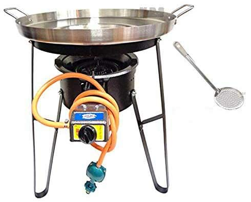 Comal Concave Stainless Steel 22' Set w/Propane Burner & Heavy Duty Stand...