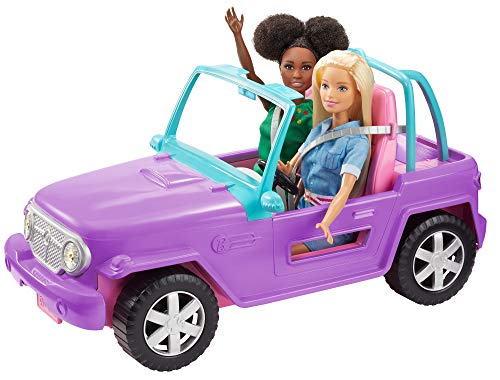 Barbie Off-Road Vehicle, Purple with Pink Seats and Rolling Wheels, 2...