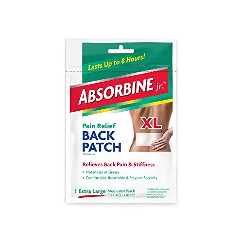 (Pack of 8) Absorbine Plus Jr, Pain Relief Back Patch, Size X-large,...
