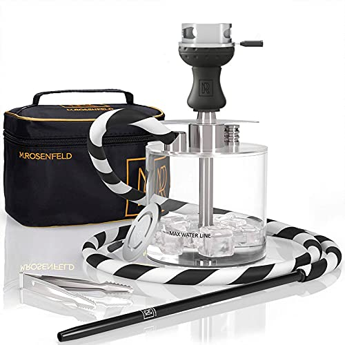 Portable Hookah Set with Everything - Acrylic Lightweight Hookah to Go with...