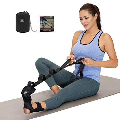 Foot and Calf Stretcher-Stretching Strap For Plantar Fasciitis , Heel...