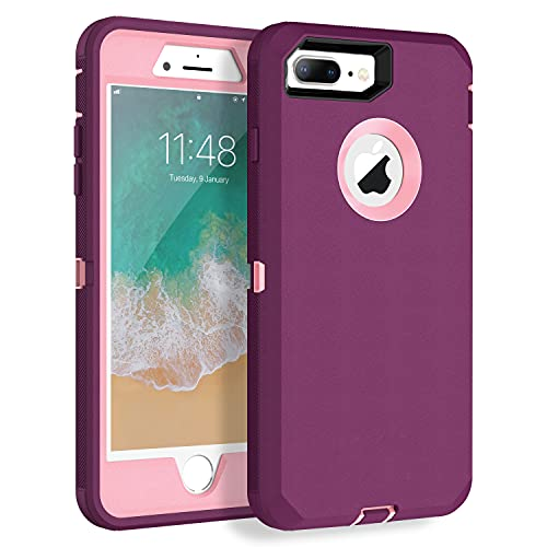 MXX iPhone 8 Plus Heavy Duty Protective Case with Screen Protector [3...
