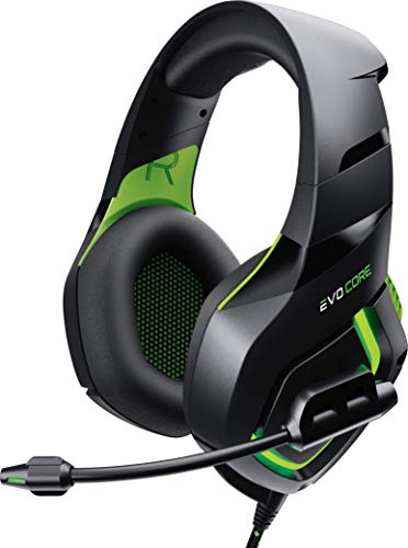 Evo Core Phenom PRO Gaming Headset with Boom Mic XL Ear Pads LED Glow 50mm...