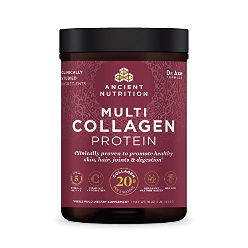 Collagen Powder Protein with Probiotics by Ancient Nutrition, Unflavored...