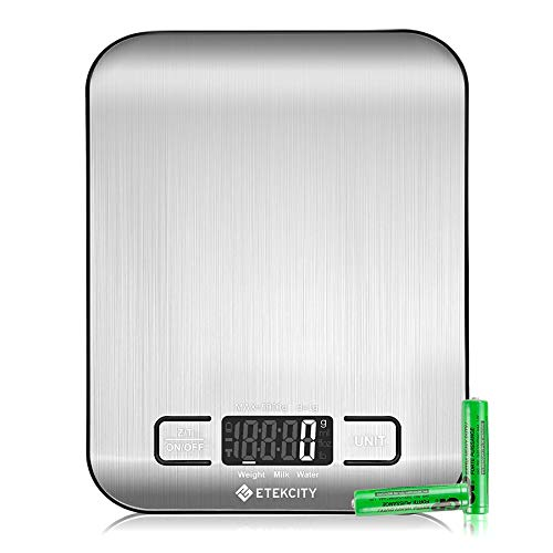 Etekcity Food Kitchen Scale, Digital Grams and Ounces for Weight Loss,...