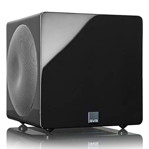 SVS 3000 Micro Subwoofer with Fully Active Dual 8-inch Drivers (Piano Gloss...