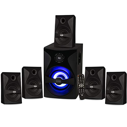 Acoustic Audio by Goldwood Bluetooth 5.1 Surround Sound System with LED...