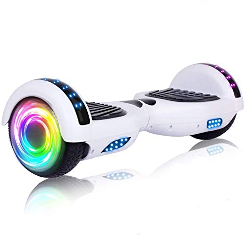 SISIGAD Hoverboard, with Bluetooth and Colorful Lights Self Balancing...