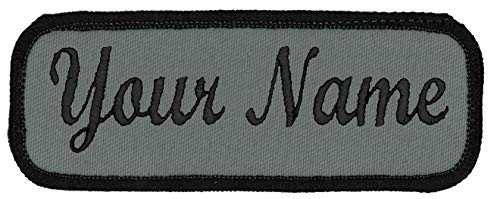 Name Tag Personalized and Embroidered 4 Wide x 1.5 Tall Black...