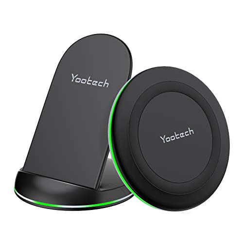 Yootech Wireless Charger,[2 Pack] Qi-Certified 10W Max Wireless Charging...