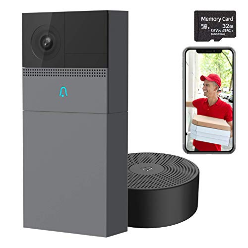 Laxihub Video Doorbell Camera with 32G SD Card, B1 Wireless Home Outdoor...