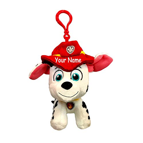 GUND Personalized Rescue Pups Marshall The Firefighter Dog Backpack Clip...