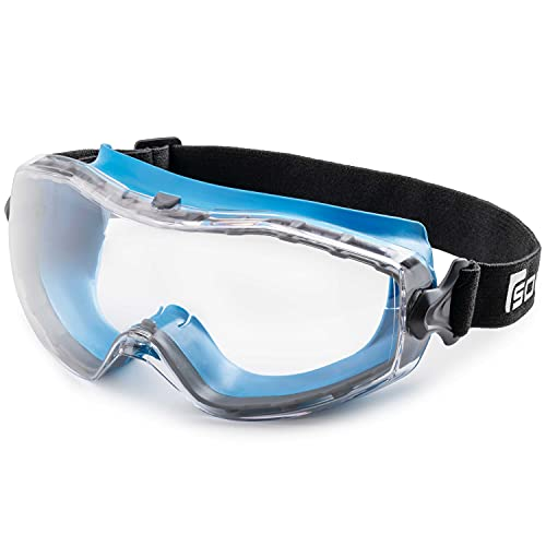 Solid. Safety Goggles that fit Perfectly | Protective Eyewear with Vented...