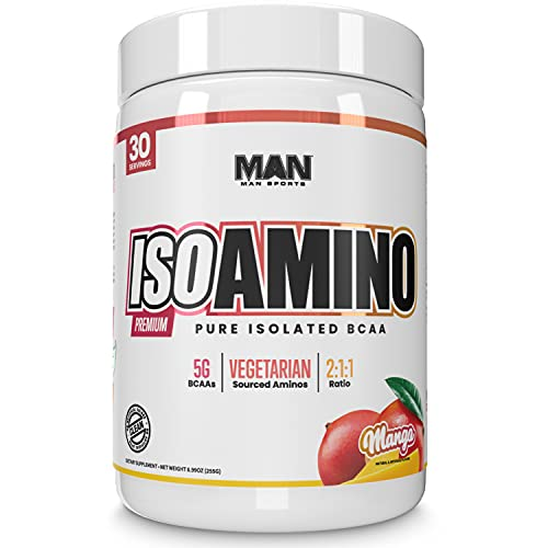 Man Sports ISO-Amino Pure Isolated BCAAs - Build Lean Muscle - Branched...