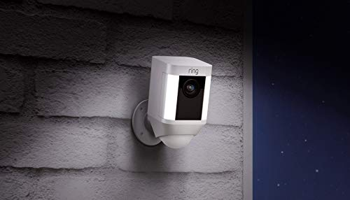 Ring Spotlight Cam Battery HD Security Camera with Built Two-Way Talk and a...