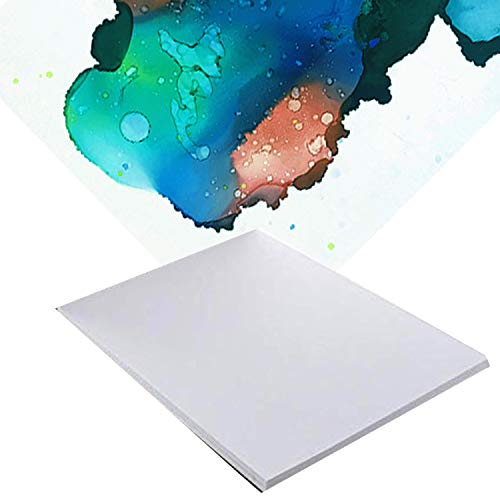 """20 Pack 8"""" x 12'' Alcohol Ink and Watercolor Paper - Reusable..."""
