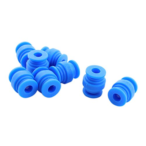 Aexit 8 Pcs Electrical equipment 8mm x 20mm Blue Rubber Shock Absorption...