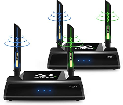 Wireless HDMI Extender, 5GHz HDMI Loop Output Transmitter and Receiver for...