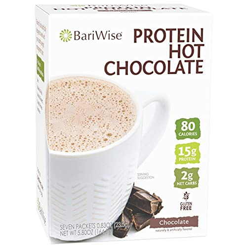 BariWise High Protein Hot Cocoa, Chocolate - Low Carb, Low Calorie, 15g...