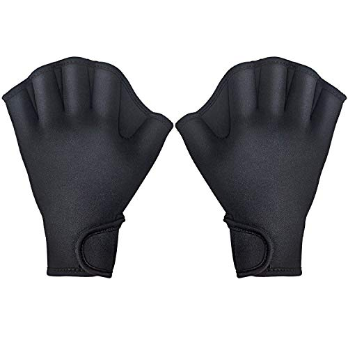 TAGVO Aquatic Gloves for Helping Upper Body Resistance, Webbed Swim Gloves...