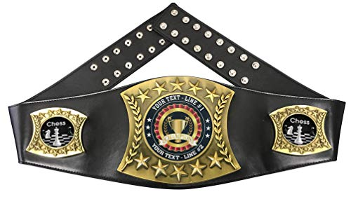Express Medals Custom Chess Trophy Personalized Championship Leather Belt...