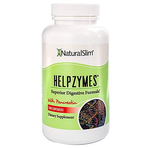 NaturalSlim Helpzymes - Premium Formula Digestive Enzymes for Ultra...