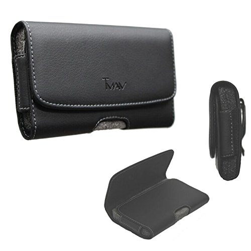 TMAN XL Size Leather holster carry pouch case for LG K7 / LG Tribute 5...