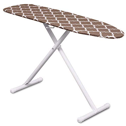 Mabel Home T-Leg Adjustable Height Ironing Board with Light-Brown/White...