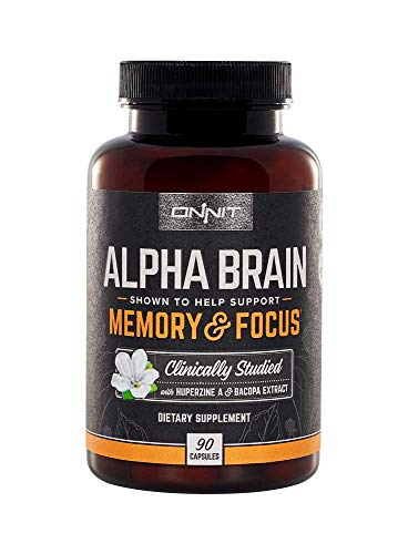 Onnit Alpha Brain (90ct): Nootropic Brain Booster Supplement For Memory,...