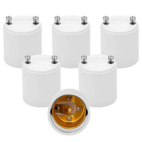 JACKYLED GU24 to E26 Adapter 6-pack Heat Resistant Up to 200℃ Fire...