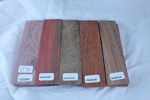 Variety pack of 5 wood scales, 5 INCH, for knife making - gun grps - craft...