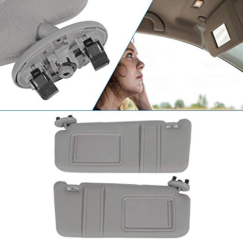 ECCPP Gray Sun Visor Pair Left and Right Side fit for 2006 2007 2008 2009...