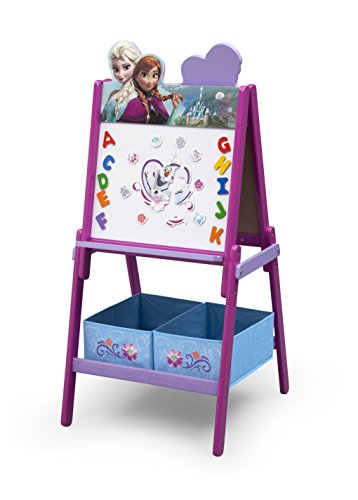 Delta Children Wooden Double-Sided Kids Easel with Storage -Ideal for Arts...